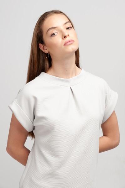 JANE SHIRT cotton pearl grey