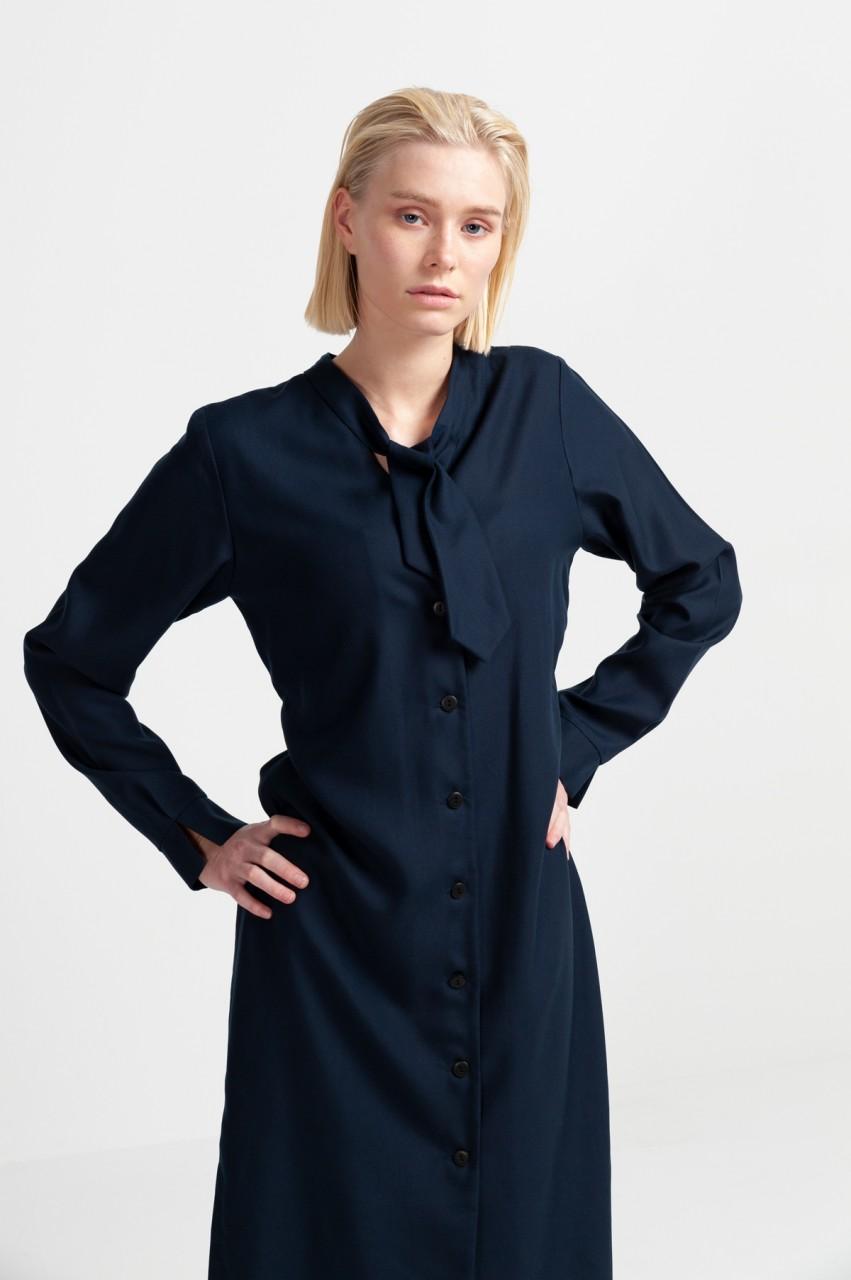 MILLO SHIRT DRESS tencel navy