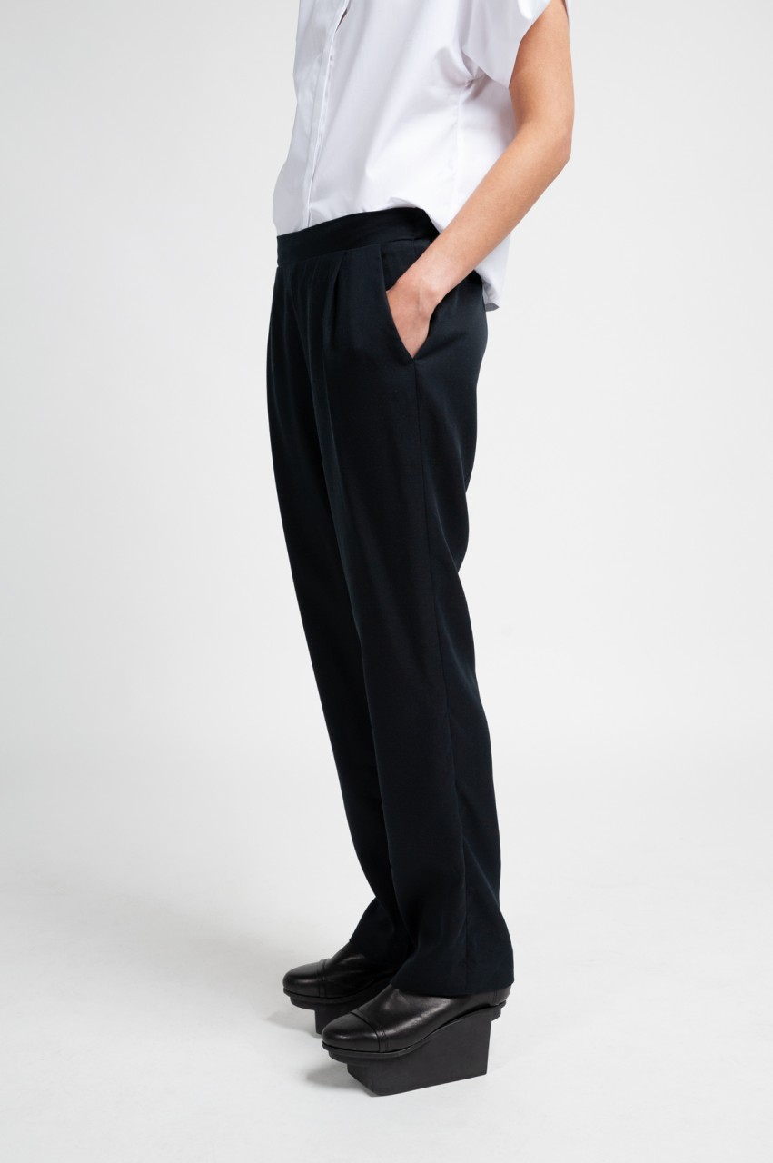 NELLIE TROUSERS tencel black