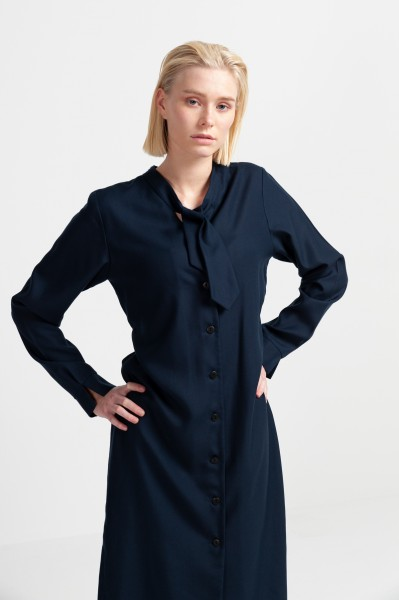 MILLO SHIRT DRESS tencel navy