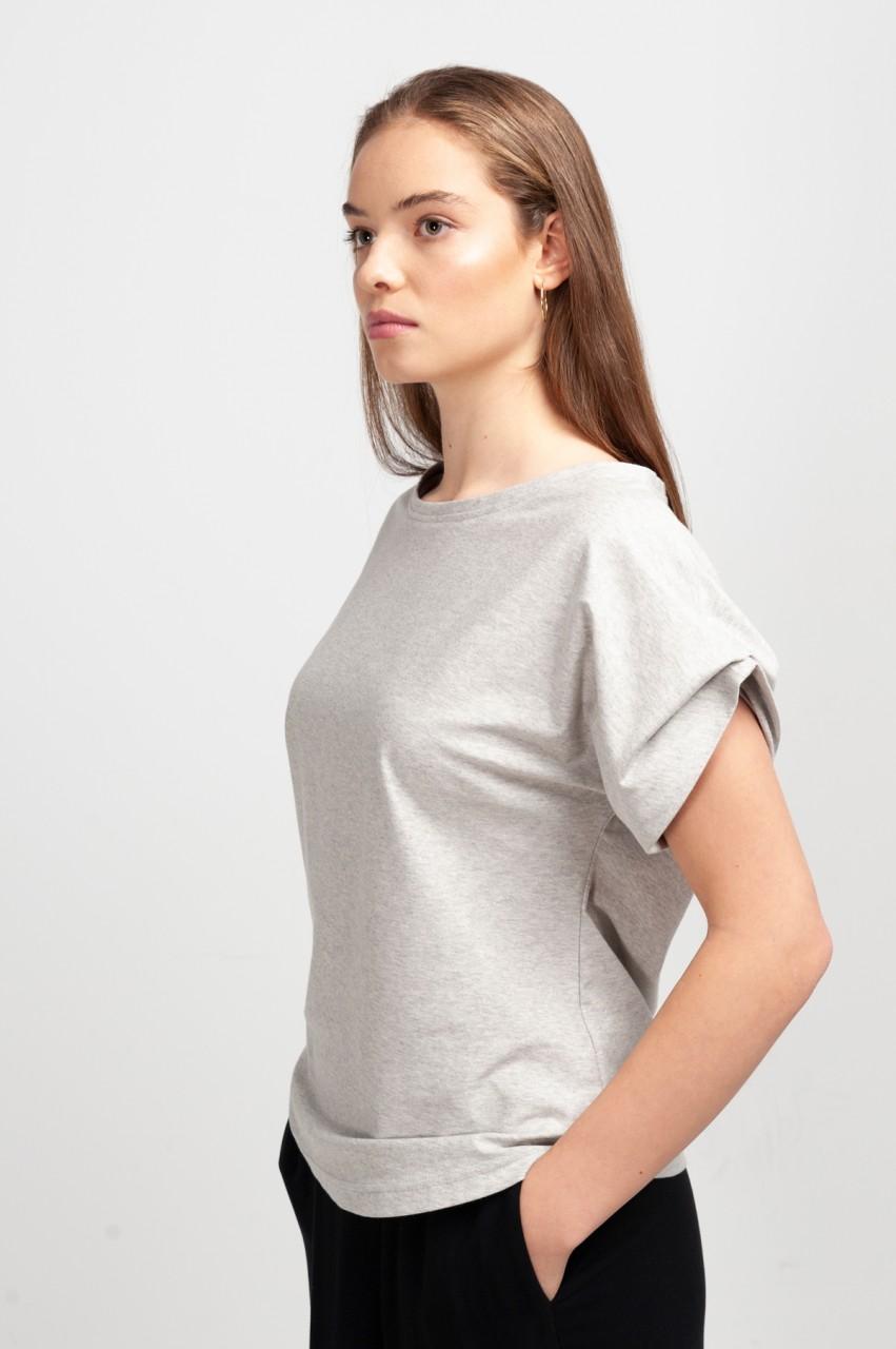 ELLIE SHIRT cotton dusty grey
