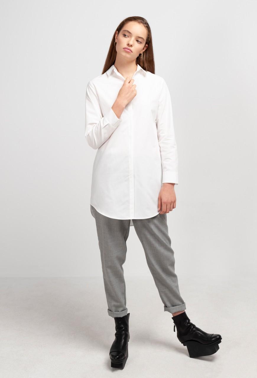 JOAN LONG BLOUSE cotton white