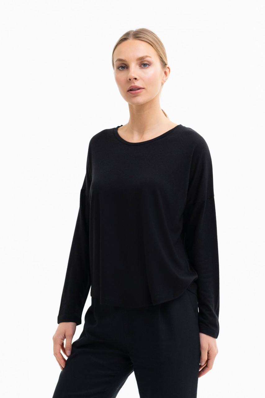 LILLY SHIRT wool-tencel blend black