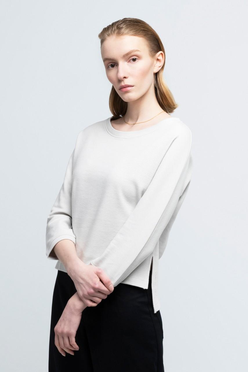 MILEVA SWEATER cotton pearl grey