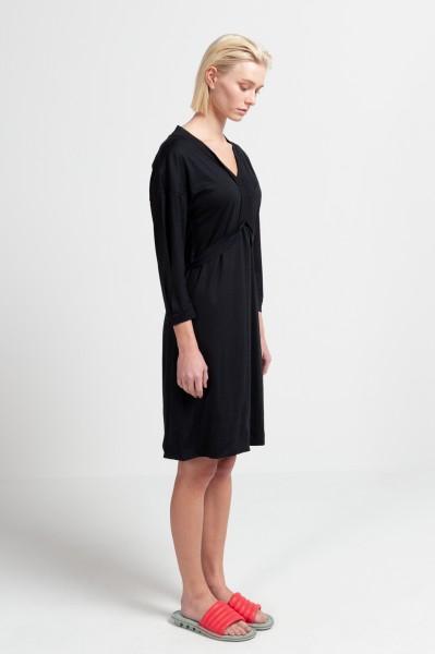 LAILA DRESS merino wool seacell black