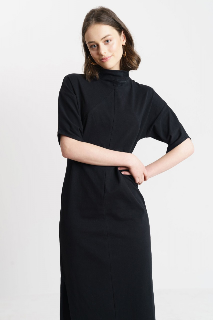 YOKO DRESS cotton black