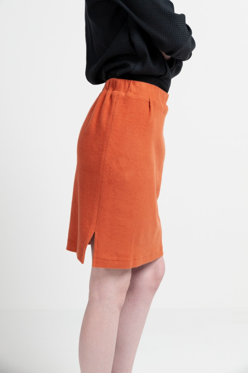 KATE SKIRT cotton cord-sweat rust
