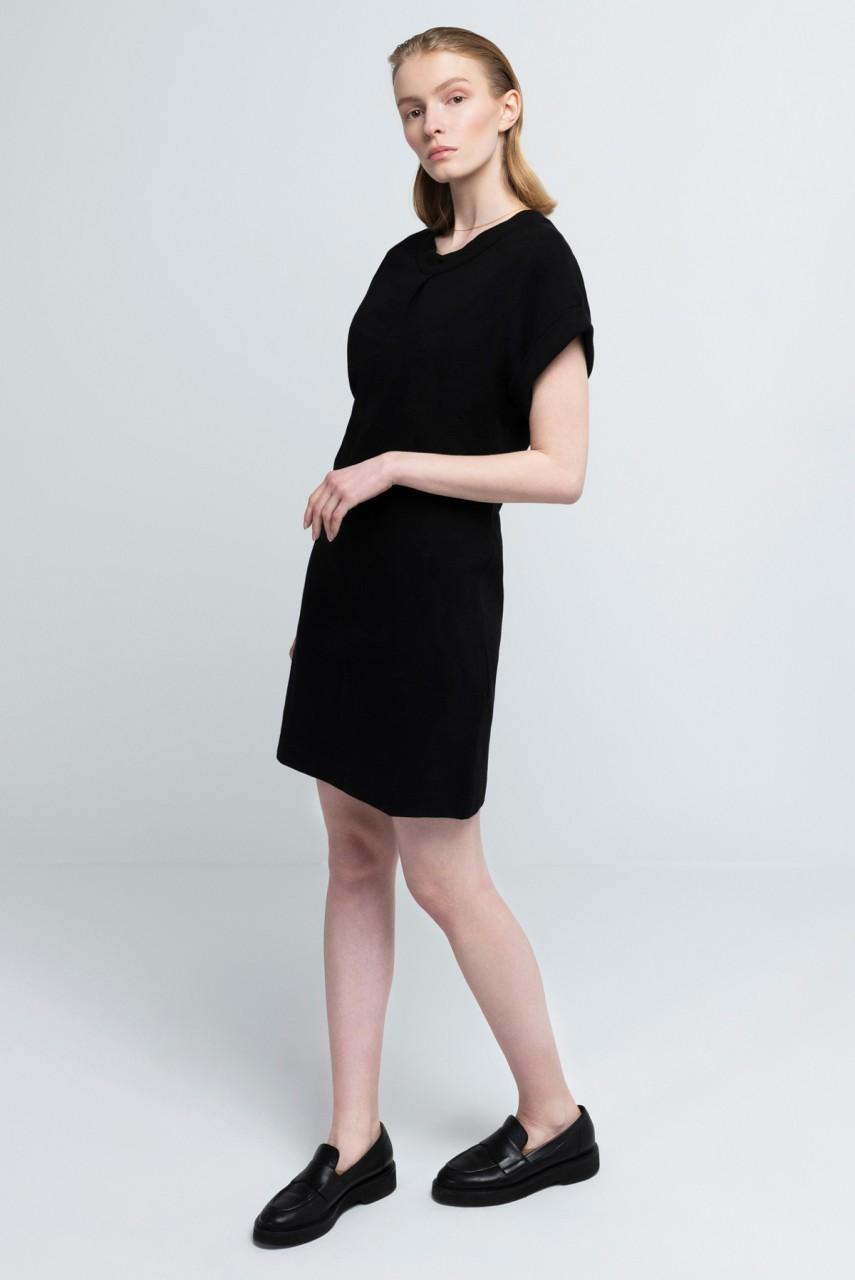 CAMILLE DRESS cotton rib black