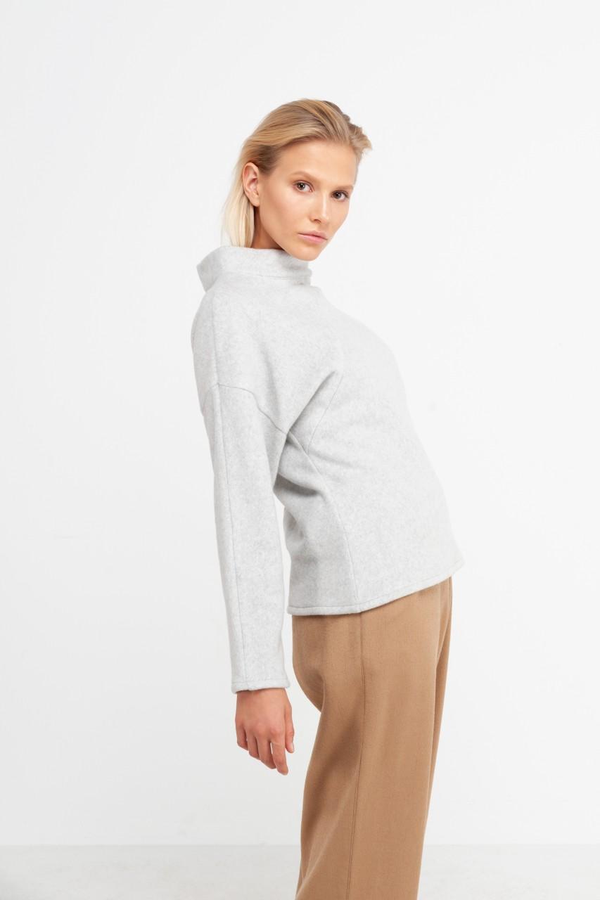 ANNIE JUMPER cotton fleece dusty grey