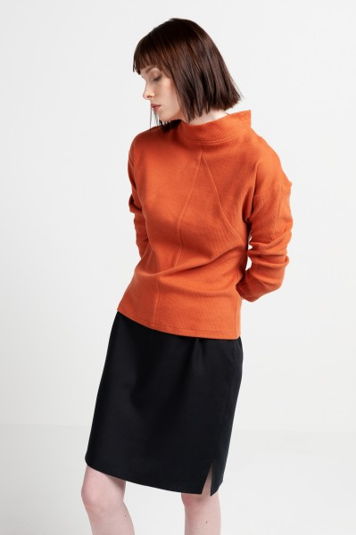 ANNIE JUMPER cotton rust