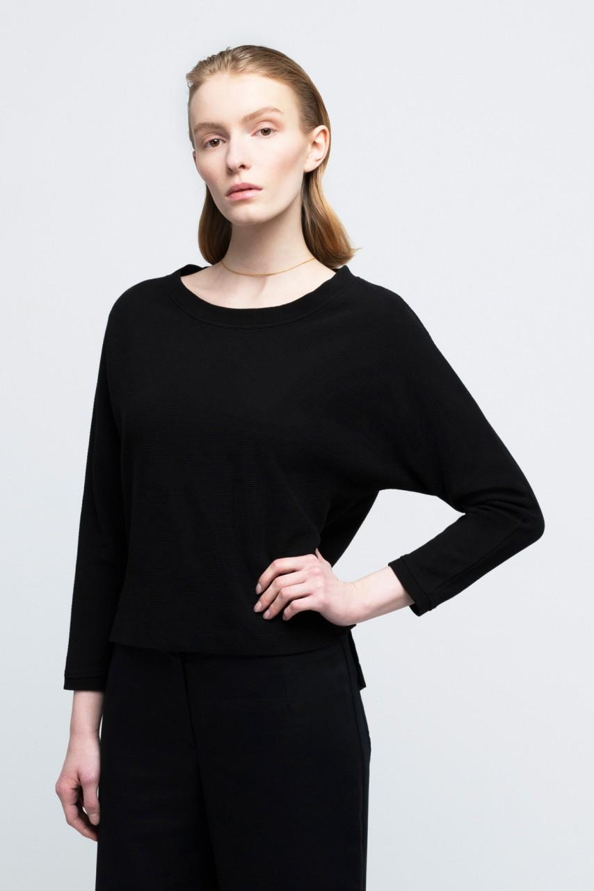 MILEVA SWEATER cotton black